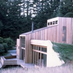 This bermed house in California also shows elements of passive solar design. Image courtest of NREL.