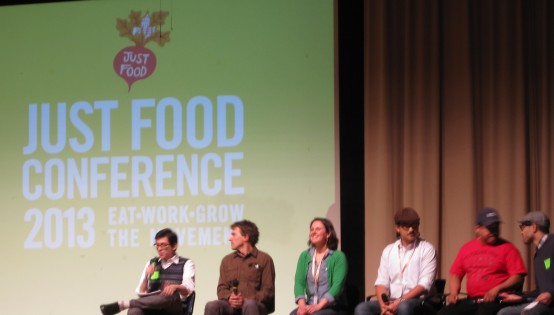 Just Food Conference panel discussion