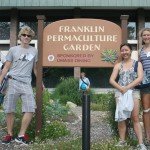 Lucy Bergwall '15, Sara Clark '15, Robin Gimm '14, and Josh Morrison '16 learned about permaculture at the University of Massachusetts Amherst in June, 2013.