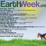 Earth Week 2015 poster