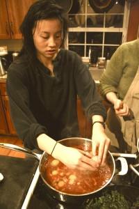 cooking at GMG farm