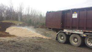 TAM Organics outdoor composting facility