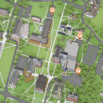 Map of campus HEV parking spaces