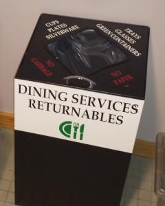 dish return bin