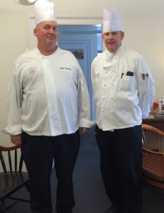 Chef Mark Thompson and Catering Chef Jim Guiden