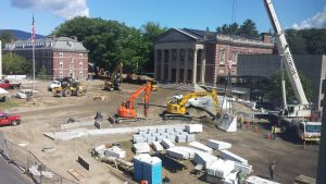 Constructing the new quad in the summer of 2016
